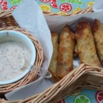 Tex-Mex Eggrolls with Cilantro Dipping Sauce